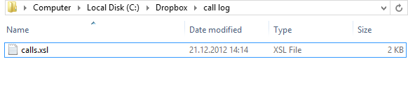 Call Log Folder After Processing