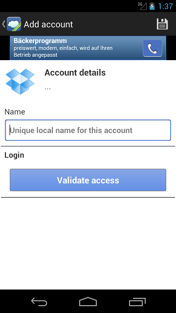 Setting up your account