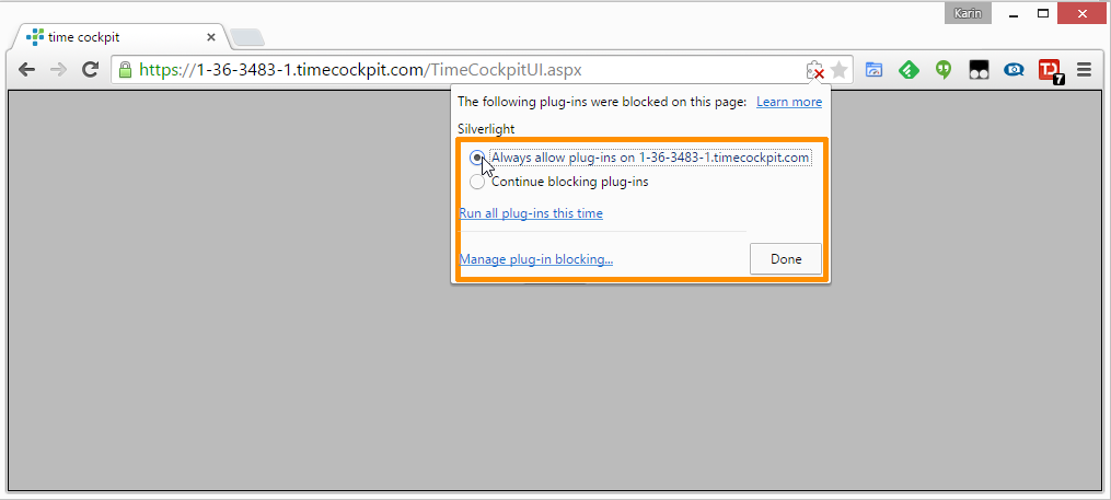 how to enable silverlight plugin in google chrome